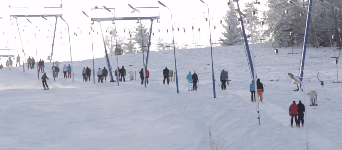 Wyciag narciarski Gromadzyń w Ustrzykach Dolnych